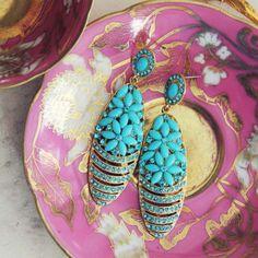 Moonwind Earrings in Turquoise, Sweet Bohemian Jewelry