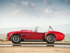 1966 Shelby Cobra 427, this is the exact same color and car that my uncle is restoring right now...