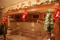 Decorating Tiny Travel Trailers   ... !: Decorate your RV or Travel Trailer for Christmas! Ho Ho on the Go #traveltrailers #rvdecoration