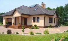 Casă de vis cu mansardă, garaj si terasă – proiect Design Case, Home Fashion, Shed, Outdoor Structures, House Design, Mansions, House Styles, Interior, Home Decor