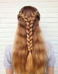 40 Flirty and Fantastic Two French Braid Hairstyles