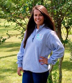 A personal favorite from my Etsy shop https://www.etsy.com/listing/247596509/preppy-quarter-zip-pullover-sweatshirt