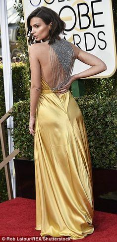 Not so mellow yellow!Emily Ratajkowski brings the sunshine in a vibrant gold dress...