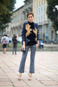 Street Style - Milan Fashion Week Street Style Spring 2015 - Harper's BAZAAR