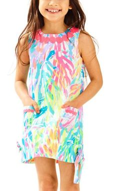 c647574092e38d Lilly Pulitzer Girls Little Lilly Classic Shift Dress - Multi Sparkling  Sands
