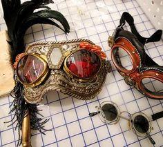 Steampunk goggles, masquerade style!