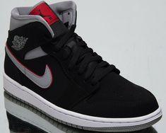 a1945837c5b (eBay Sponsored) Air Jordan 1 Mid Mens Black Cement Sneakers Casual  Lifestyle Shoes 554724
