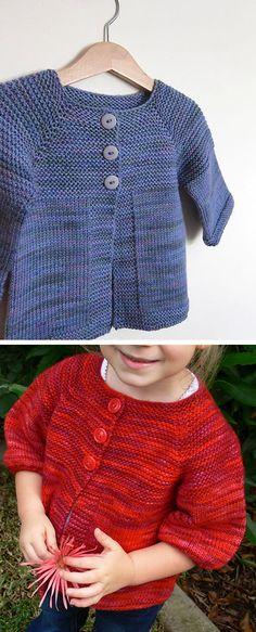 Baby Cardigan Knitting Pattern Free, Knitting Machine Patterns, Knitted Baby Cardigan, Knit Baby Sweaters, Girls Sweaters, Free Knitting, Easy Knit Blanket, Tricot Baby, Knitting Basics