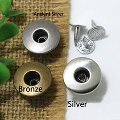 Click Our Letters Rivets Gallery to See More Style and Color . Jeans Button, Make Color, Shake, Giant Tree, Bronze, Buttons, Smoothie, Plugs