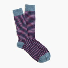 J.Crew Gift Guide: men's tipped microstriped socks.