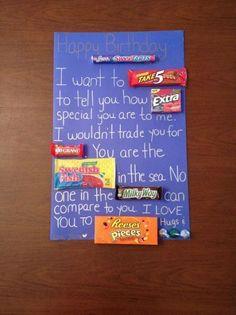 Candy Birthday Card for Boyfriend! #boyfriendbirthdaygifts