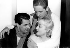Cary Grant, Fredric March and Carole Lombard in The Eagle and the Hawk, 1933