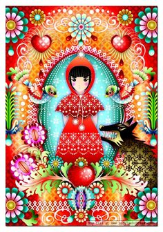 Catalina Estrada, via Claire Wijnstok.   Fairytales and bright colors in one. *like*