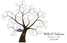 Downloadable fingerprint tree guestbook | Offbeat Bride