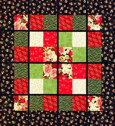 Free Fat Eighth-Friendly Quilt Patterns: Window Pane Wall Hanging