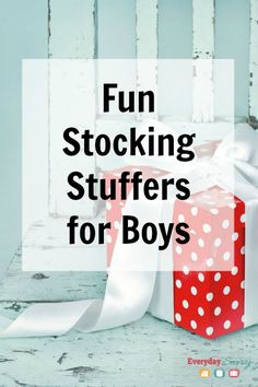Fun Stocking Stuffers for Boys - Lots of great ideas that you won't want to miss!