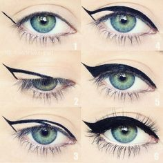 Here's an easy way to purrfect a cat eye!  Tag a friend who will find this helpful.  Some of you have been asking me how I do eyeliner and I think this is one way that's pretty simple.  I did this pictorial awhile ago and it's all around the Internet but for those who haven't seen yet I hope it helps! by iheartmakeupart