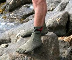 Kevlar Socks - Enjoy the comfort and mobility of socks while still having the durability and protection of shoes with these Kevlar socks. Perfect for outdoors adventures on jagged surfaces such as rock climbing, these Kevlar socks will protect your feet just as well as any shoe will.