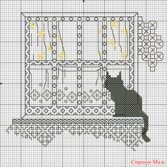 Handmade: Cats in Blackwork Cross Stitch Love, Cross Stitch Animals, Cross Stitch Charts, Cross Stitch Designs, Cross Stitch Patterns, Cat Embroidery, Blackwork Embroidery, Cross Stitch Embroidery, Embroidery Patterns