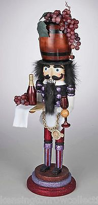 WHIMSICAL NUTCRACKER - WINE TASTING NUTCRACKER - VINEYARD NUTCRACKER