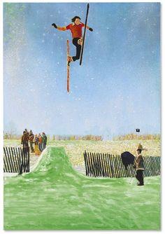 Peter Doig (British, b. 1959), Olin MK IV Part 2, 1995-96. Oil on canvas, 290 x 200 cm.