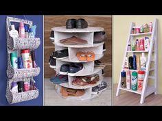 6 Beautiful Home Organization Ideas ! Handmade Things – Home Decor DIY Closet Organization Cardboard Organizer, Cardboard Box Crafts, Desk Organization Diy, Diy Storage, Organizing, Creative Crafts, Diy Crafts, Diy Carpet, Carpet Ideas