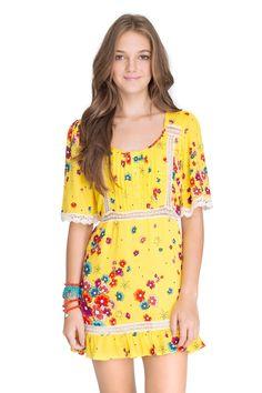 vestido estampa sun flowers - Vestidos | Dress to