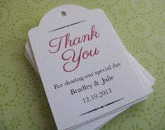 Wedding Favor Tag Personalized Gift Tags or by SandpiperPress