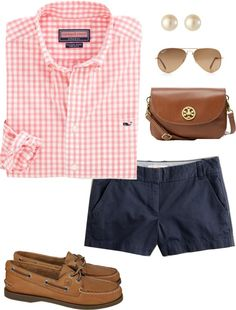 """""""OOTD: Preppy Style"""" by pinkprep37 ❤ liked on Polyvore"""