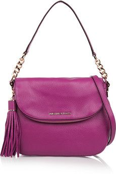 Textured-leather shoulder bag by: MICHAEL Michael Kors