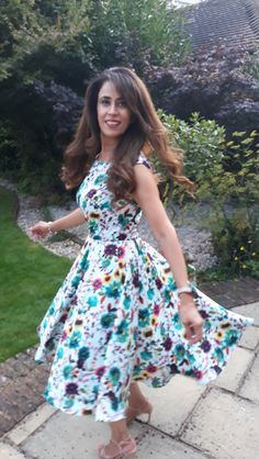 The most beautiful floral Betty Dress made by Sam, perfect for twirling!