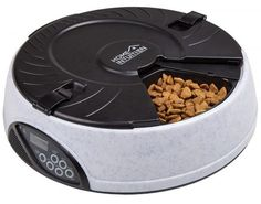 Home Intuition 6 Meal Automatic Pet Feeder with Programmable Timer Easy to program: Great for all Cats and Dogs, Serves as much as 6 meals a day Record a 6 second private message on your pet Helps sto 6 Meals A Day, Automatic Cat Feeder, Dog Feeder, Small Puppies, Cat Feeding, Food Bowl, Portion Control, Cat Food, Dog Accessories
