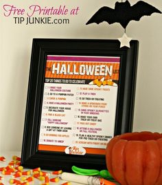 20 Spooky Things to Do for Halloween {free printable} #printable #halloween