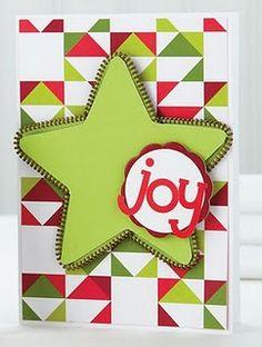 Zipper accent on star card
