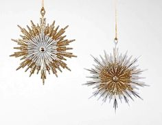 """Katherine's Collection Threads Of Gold Christmas Collection Twenty-Four Assort 5""""Starburst Ornaments Free Ship"""