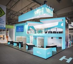 Booth design | Wikomobile | Mobile World Congress 2014 by QUAM Brand Environment Design, via Behance. Attend #MWC15 on 2-5 March 2015 in Barcelona.