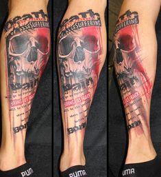 trash polka tattoo 11