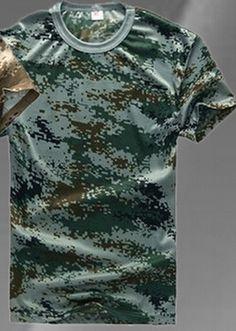 LOVESLF pria tri-color Desert Kamuflase Militer T-shirt kustom t ...