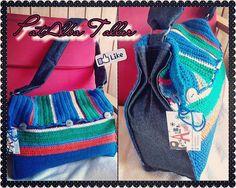 Morral tejido a crochet y mezclilla, 4 compartimentos + un bolsillo interior, diseño especial a pedido ✌ #PatAlbaTaller #diseñodeautor #emprendedora #tejidos #artesana #confeccionapedido — en PatAlba Taller Artesania/Diseño Independiente.