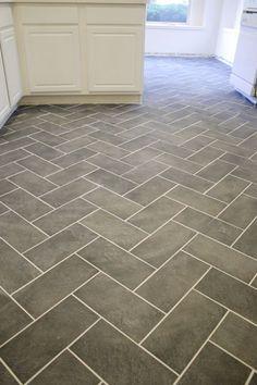 Herringbone slate floor