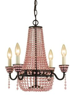 pink parlor mini chandelier