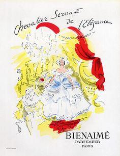 Bienaimé (Perfumes) 1946  Chevalier Servant de L'Elégance