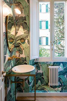 Un salotto da lettura nel cuore di Roma. Con oblòelledecoritalia