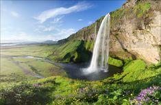 Summer Idyll, Seijalandsfoss cascada, Islandia, • AirPano.ru • Foto