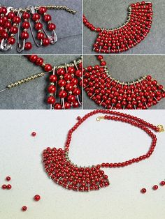 Like the safety pin pearl necklace?The tutorial will be published by LC.Pandahall.com soon.