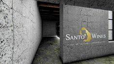 διακόσμησή οινοποιείου  Santo Wines Winery | Σχεδιασμός και διακόσμησή οινοποιείου στην Σαντορίνη Wines, Office Supplies, Saints