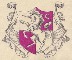 Unicorn Rampant | Urban Threads: Unique and Awesome Embroidery Designs