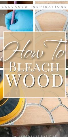 How To Bleach Wood Furniture | Vintage Dresser Makeover | Salvaged Inspirations  #siblog #salvagedinspirations #paintedfurniture #furniturepainting #DIYfurniture #furniturepaintingtutorials #howto #furnitureartist #furnitureflip #salvagedfurniture #furnituremakeover #beforeandafterfurnuture #paintedvintagefurniture #roadsiderescues Salvaged Furniture, Furniture Refinishing, My Furniture, Furniture Vintage, Furniture Makeover, Bleached Wood, Wood Plant Stand, Whitewash Wood, Vintage Dressers