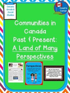 Communities in Canada Part 5:  A Land of Many Perspectives - Ontario Social Studies Grade 6