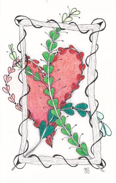 kaart 59 - valentine - by JeAnToin Valentine Stuff, Zentangle, Moose Art, Cards, Zentangle Patterns, Maps, Zentangles, Playing Cards